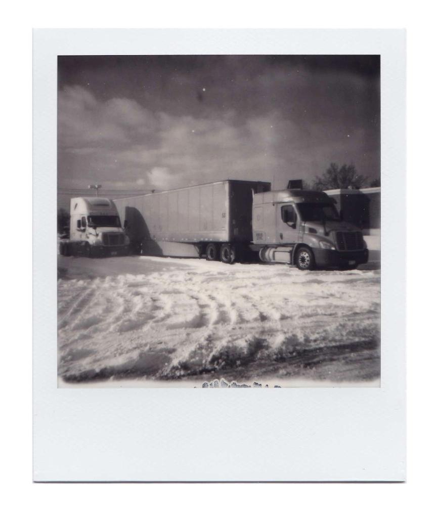 Winter Semi-Trailer Trucks